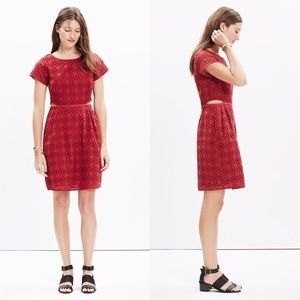 Madewell Cut Out Eyelet Dress